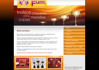 Sitio web para empresa de trofeos