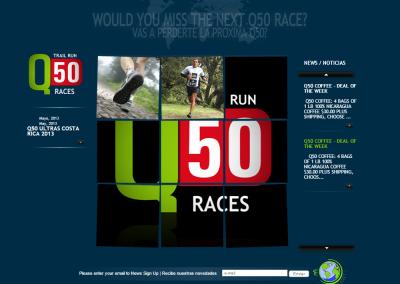 Sitio web Q50 Races