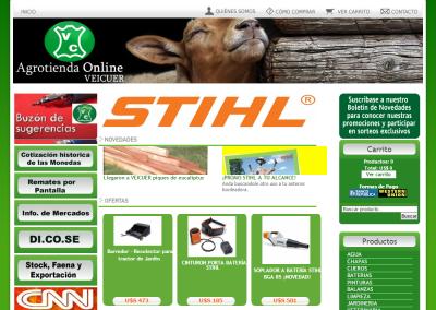 Sitio web para Agrotienda