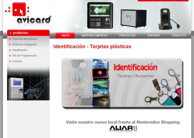 Sitio web para sistemas de identificación