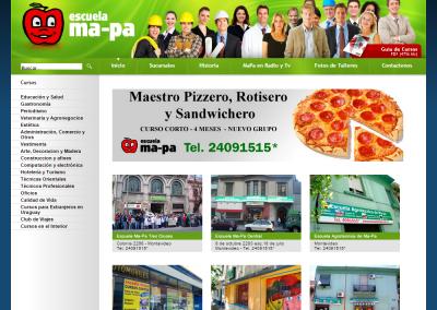 Sitio web para escuela de oficios