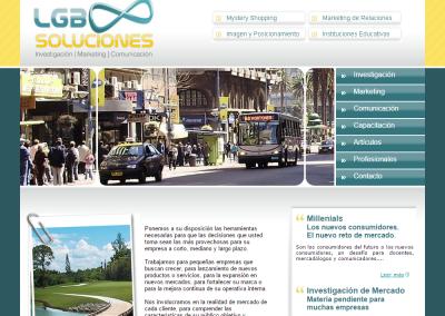 Sitio web para consultora en marketing