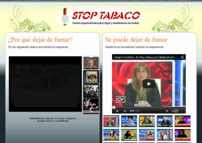 Sitio web de Stop Tabaco