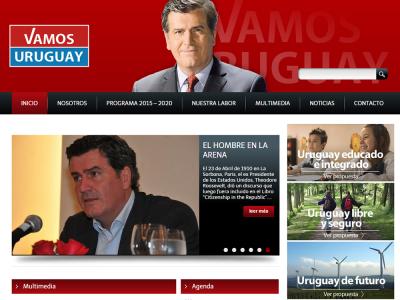 Diseño y desarrollo del sitio oficial de Vamos Uruguay