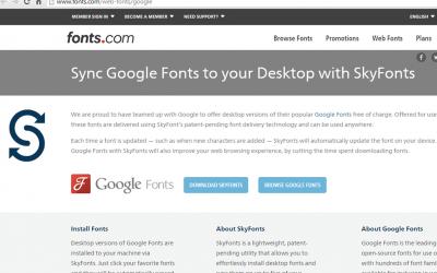 Skyfont: las fuentes de Google en tu ordenador